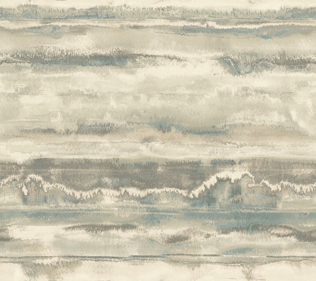Simply Candice High Tide Peel and Stick Wallpaper - Taupe & Blue