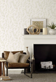 Magnolia Home Olive Branch Peel & Stick Wallpaper - Beige