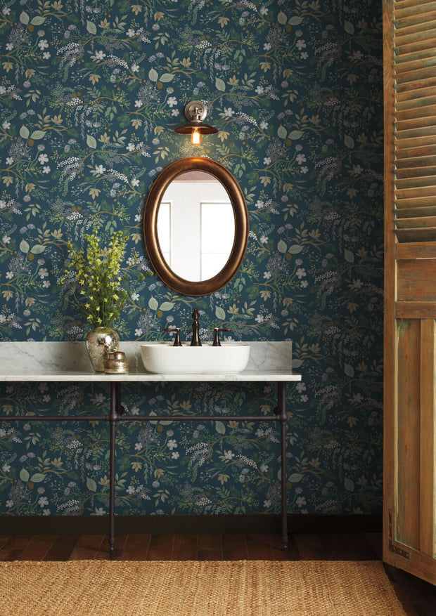 Rifle Paper Co. Juniper Forest Peel & Stick Wallpaper - Blue