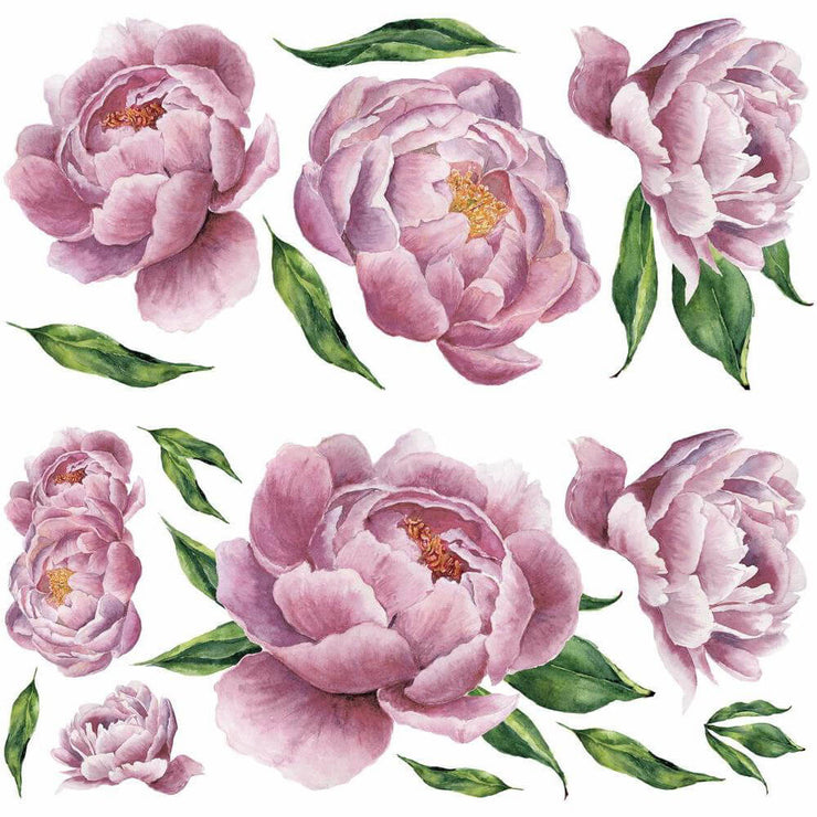 Peony Pink Peel and Stick Wall Stickers