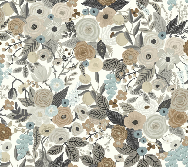 Rifle Paper Co. Garden Party Wallpaper - Brown/Beige