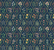 Rifle Paper Co. Hawthorne Wallpaper - Navy Blue