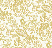 Rifle Paper Co. Canopy Wallpaper - Gold & White