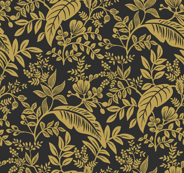 Rifle Paper Co. Canopy Wallpaper - Black & Gold