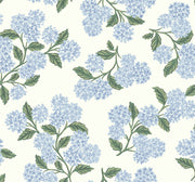Rifle Paper Co. Hydrangea Wallpaper - Blue & White