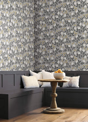 Rifle Paper Co. Peonies Wallpaper - Gray