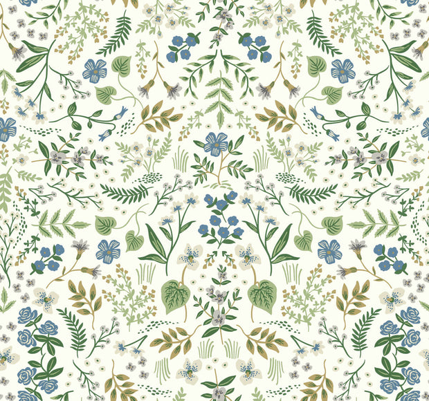 Rifle Paper Co. Wildwood Wallpaper - Blue & Green