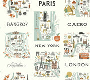 Rifle Paper Co. City Maps Wallpaper - Mint