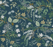 Rifle Paper Co. Juniper Forest Wallpaper - Pine Blue