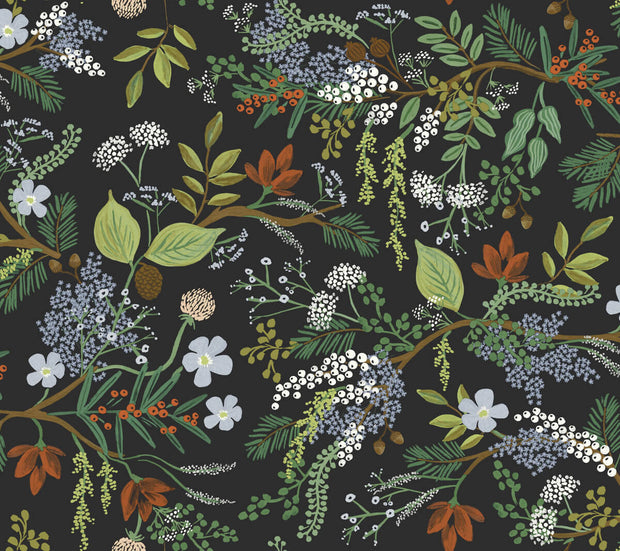 Rifle Paper Co. Juniper Forest Wallpaper - Black