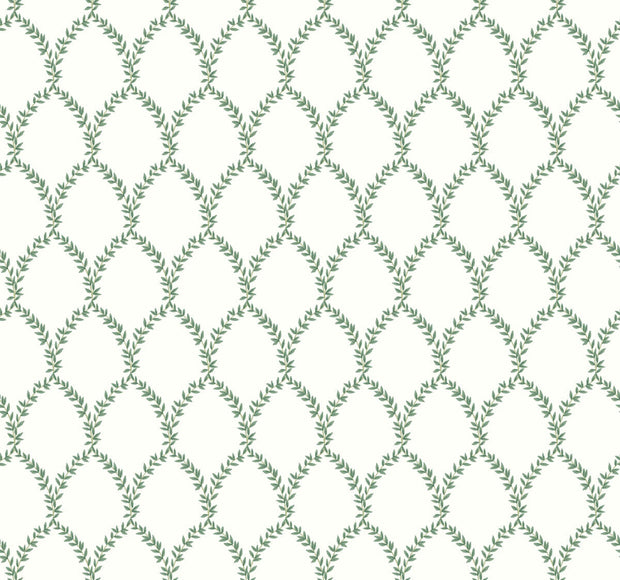 Rifle Paper Co. Laurel Wallpaper - Green & White