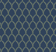 Rifle Paper Co. Laurel Wallpaper - Navy Blue