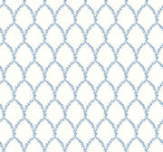 Rifle Paper Co. Laurel Wallpaper - Blue & White