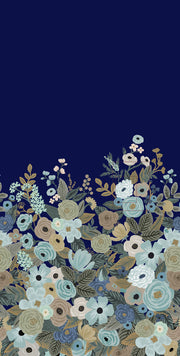 Rifle Paper Co. Garden Party Wallpaper Mural - Navy Blue