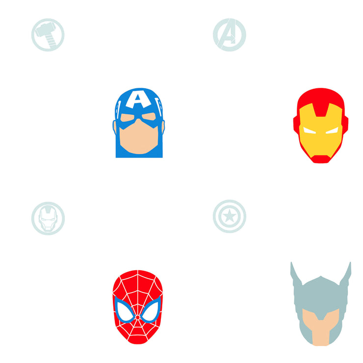 RMK11187RL Marvel Avengers Character Heads WallPaper