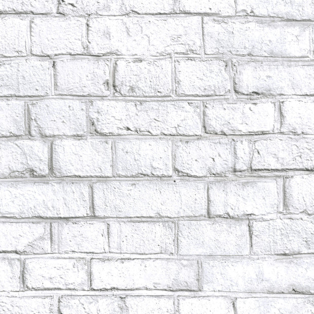 Peel and Stick Brick Wallpaper - White
