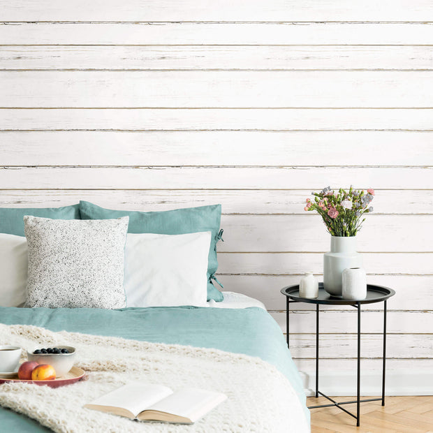 White Shiplap Peel & Stick Wallpaper