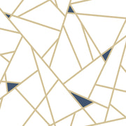Fracture Geometric Peel and Stick Wallpaper - Gold