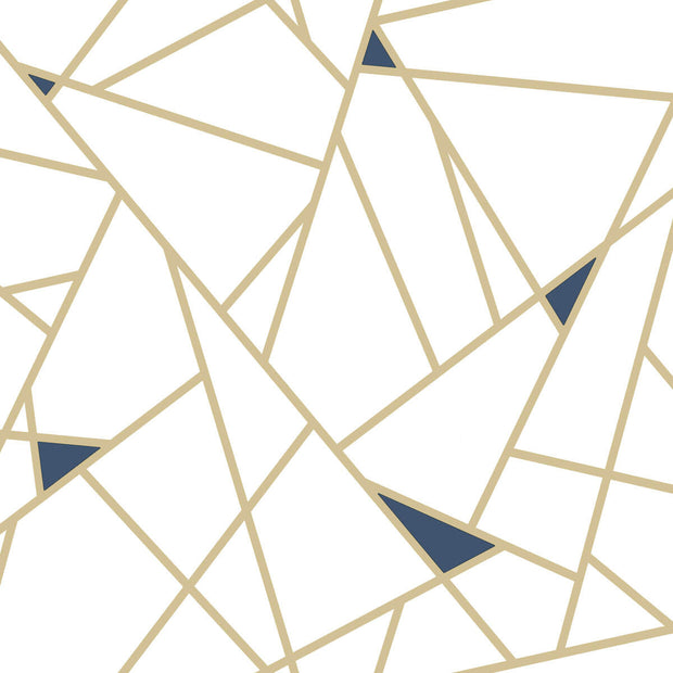 Fracture Geometric Peel and Stick Wallpaper - SAMPLE ONLY