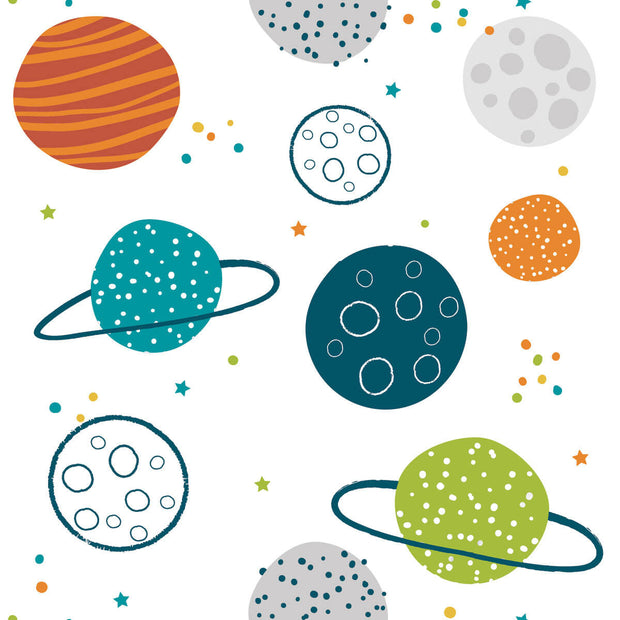 Planets Peel and Stick Wallpaper - Blue/Orange