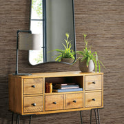 Peel and Stick Grasscloth Wallpaper - Brown