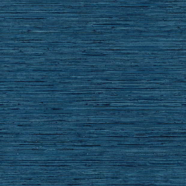 Peel and Stick Grasscloth Wallpaper - Navy