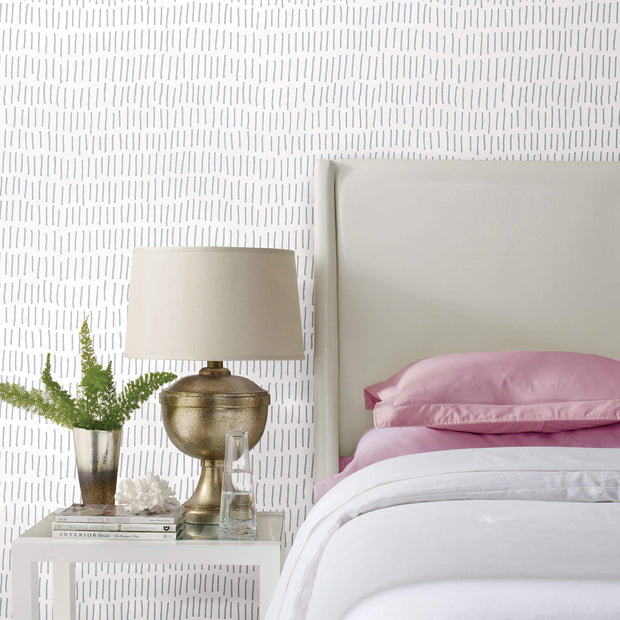 Tick Mark Peel and Stick Wallpaper - White/Gray