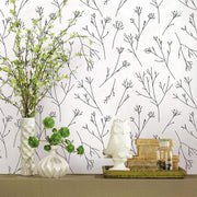 Twigs Peel and Stick Wallpaper - White