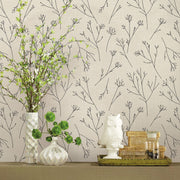 Twigs Peel and Stick Wallpaper - Beige