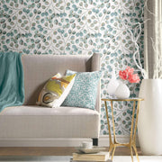 CatCoq Eucalyptus Peel and Stick Wallpaper - Gray