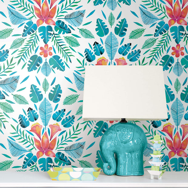 CatCoq Tropical Peel and Stick Wallpaper - Blue