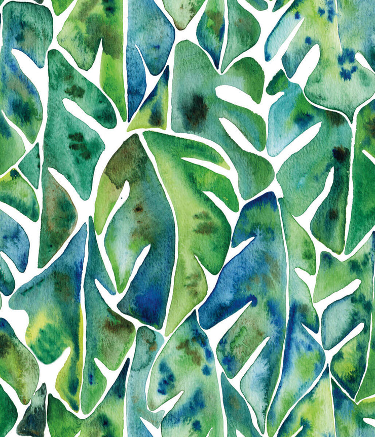 CatCoq Philodendron Peel and Stick Wallpaper - Green