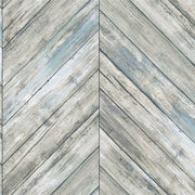 Herringbone Wood Boards Peel and Stick Wallpaper - SAMPLE ONLY