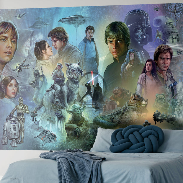 Star Wars Original Trilogy Peel and Stick Wall Mural
