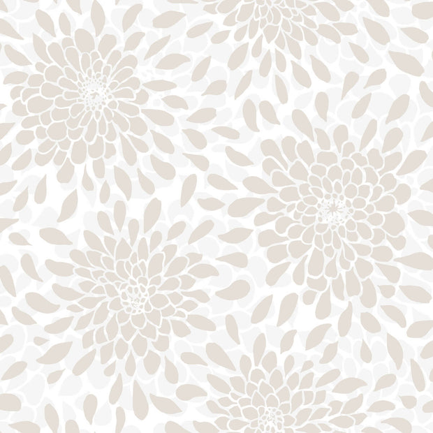 Toss The Bouquet Peel and Stick Wallpaper - Beige