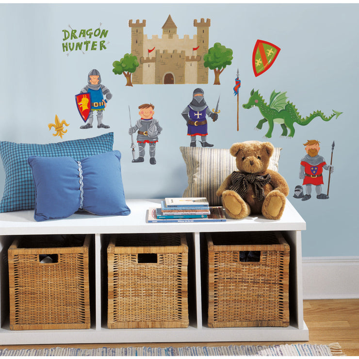 Knights and Dragon Hunters Wall Decals