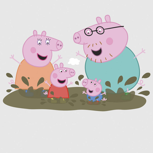 RMK3186GM Peppa Pig Family Muddy Puddles Giant Wall Decals
