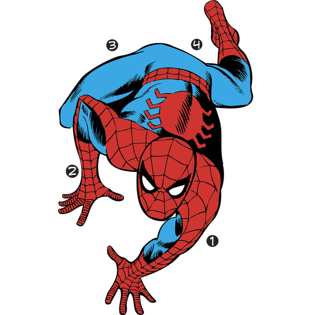 Classic Spiderman Comic Giant Wall Decals