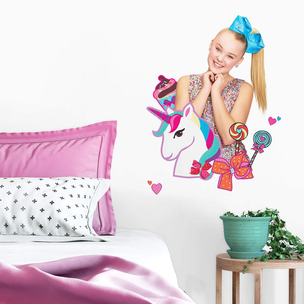 JoJo Siwa Unicorn Dream Peel and Stick Giant Wall Decals