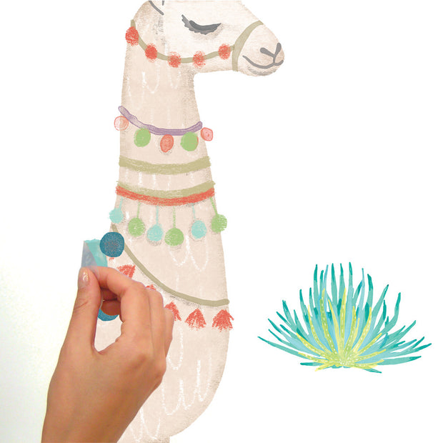 RMK3839GM Llama Peel and Stick Wall Decals Roommates