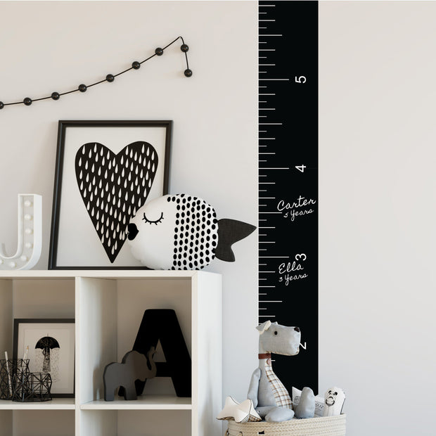 Kids Room Growth Chart Ruler Peel and Stick Wall Decals
