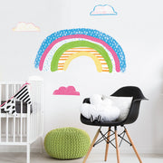 RMK4071GM Colorful Rainbow Peel and Stick Giant Wall Decals