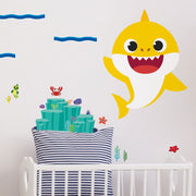 Yellow Baby Shark Peel and Stick Giant Wall Decals
