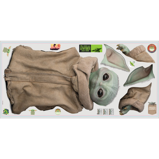 The Mandalorian: Baby Yoda Peel and Stick Giant Wall Decals