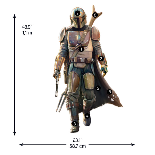 The Mandalorian Peel and Stick Giant Wall Decals
