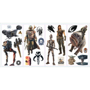 The Mandalorian Characters Peel and Stick Wall Decals