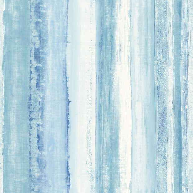Watercolor Peel and Stick Wallpaper - Blue