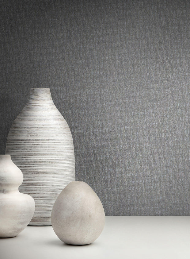 Stacy Garcia Moderne Panama Weave Wallpaper - Gray