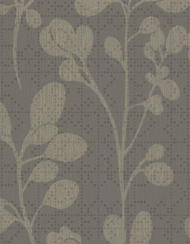 "54"" Stacy Garcia Sprig Wallpaper - Dark Gray"
