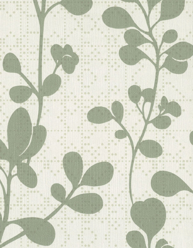 "54"" Stacy Garcia Sprig Wallpaper - Green & Off White"